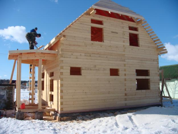 строительство дома зимой