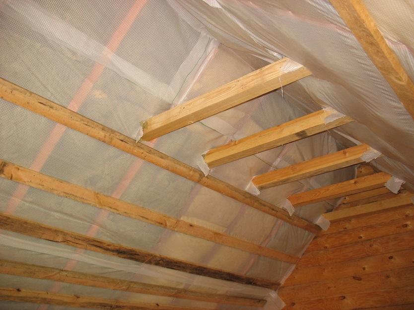 утепление изнутри если крыша уже покрыта